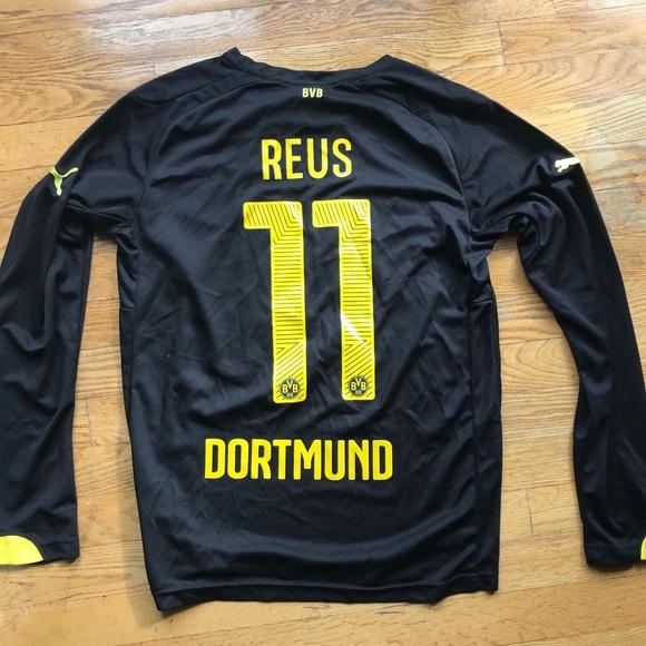 wholesale dealer 61f40 7add7 Marco Reus Dortmund 14/15 Long Sleeve (Away Kit)